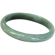SALE Mid-Century Celadon Jade Bangle Bracelet