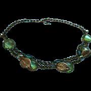 SALE Gorgeous Juliana Delizza & Elster Glass & Rhinestone Draping Bib Choker Necklace