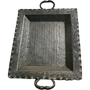 Boliviano Snake Handled Nickel-Silver Serving Tray Platter Brazil
