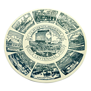 Clay County Minnesota Centennial Ceramic Plate