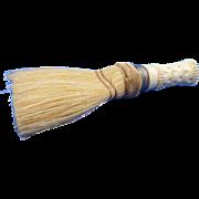 SALE Vintage Carved Bone Handled Clothes Brush