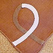 Brown Appliqué Geometric Shape Handkerchief