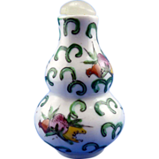 Porcelain Snuff Bottle with Spoon