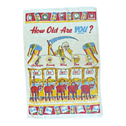 SALE How Old Are You? Risqué Kitchen Towel