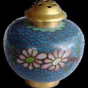 Blue Cloisonne Brass Enamel Miniature Shaker