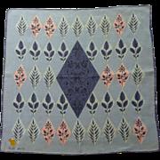Faith Austin Linen Purple / Pink Leaf Handkerchief