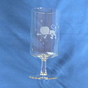 Etched Leo the Lion Zodiac Drinking Glass