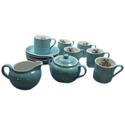 "SALE ""Victoria"" Czechoslovakia China Small Demitasse Tea Coffee Set"