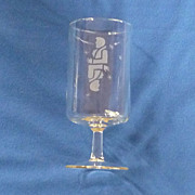 Etched Gemini Twins Zodiac Drinking Glass