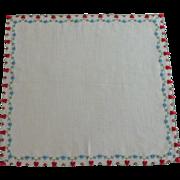 Hearts & Flowers Valentine Handkerchief