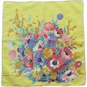 Brilliant Bouquet of Flowers Handkerchief