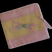 SALE Satin Cloth Handkerchief Holder 1920's
