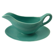 SALE Franciscan El Patio Gloss Aqua Gravy Bowl  / Tray