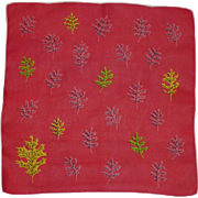 Autumn Leaf Leaves Red Handkerchief