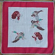 Ducks & Springer Spaniel Dog Handkerchief