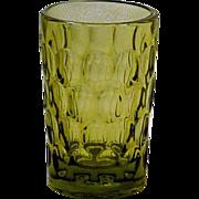 SOLD Fenton Green Thumbprint Juice Glass