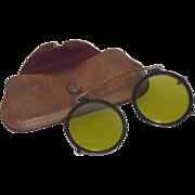 1920-1930 Clip on Steam Punk Like Sun Glasses