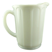 SALE White Vintage Hazel Atlas Milk Glass Juice Pitcher