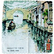 The Grand Canal China Handkerchief Hanky