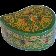 Green Comma Shape Paper Mache Box India