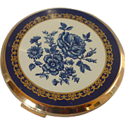 Blue Stratton England Powder Compact