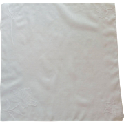 Appliqué White Cotton Flower Handkerchief Hanky
