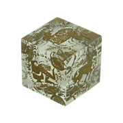 Zodiac  Six Astrology Lucite Cube Paperweight