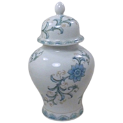 Asian Blue Floral Andrea by Sadek Ginger Jar