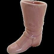 Pink Cowboy Boot Pottery Ceramic Planter