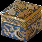 Cloisonné Rhombus Miniature Box with Lid