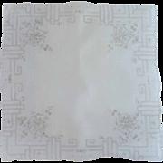 Delicate Pull Work White Handkerchief Hankie