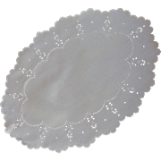 White Cutwork Scalloped Edge Doily