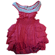 Red Bubble Baby Romper Barbie Frock Original