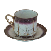 Luster Ware Vintage Coffee Cup and Saucer