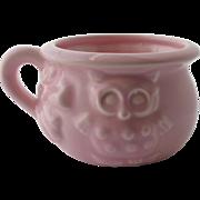 Haeger Pink Pottery Planter Owl Bowl