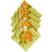 SOLD Early 1960's Vera Cloth Flower Floral Napkins