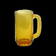 Harvest Gold Glass Gas Station Drinking Mug