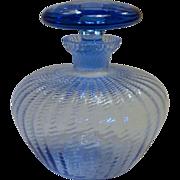 Vintage Blue Vanity Perfume Bottle