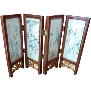 Asian Table Top Two Sided Folding Screen