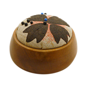 SALE Round Smooth Wood Pin Cushion