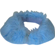 SALE Blue Rabbit Fur Collar Vintage 1950