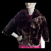 Mouton Sheep Fur 1950's Stole / Cape Jacket
