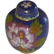 Miniature Asian Cloisonné Ginger Jar