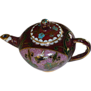 Miniature Asian Cloisonné Tea Coffee Pot