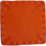 Red / Orange Scottie Dog Handkerchief Hanky