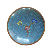 Chinese Cloisonné Blue Small Plate