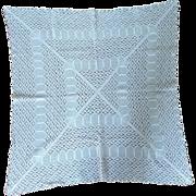 Small Ecru Beige Crotchet Table Cloth  Tablecloth