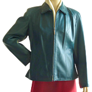 SOLD Teal Leather Preston & York Jacket