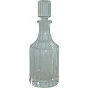 Vanity Clear Glass Bottle with Glass Stopper