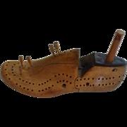 Unique & Rare Shoe Tree Form Cribbage Board
